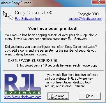 Copy Cursor is FREE and harmless. Download it and try for yourself.